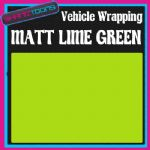 2M X 1520mm VEHICLE CAR VAN WRAP MATT LIME GREEN FINISH STYLING GRAPHICS